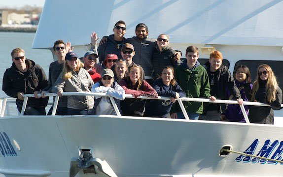 Students on a boat in Cape May