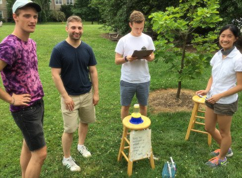 swarthmore biology students and bees doing the waggle dance