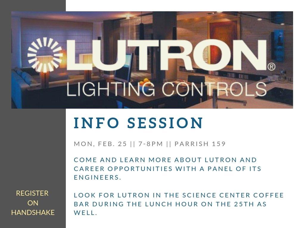 Lutron Info Session