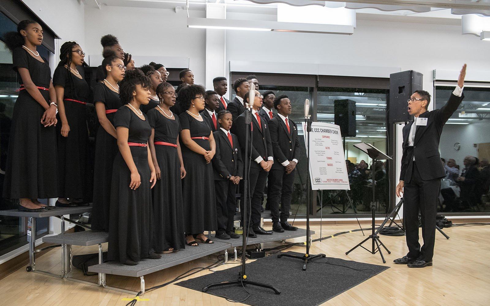 Chester Children's Chorus students