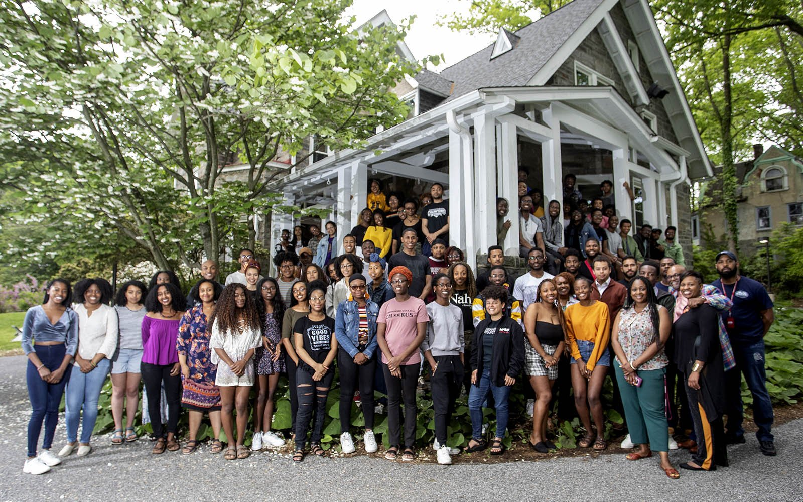 Students at the Black Cultural Center