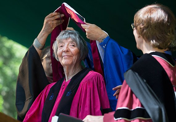Honorary degree recipient Barbara Norfleet '47