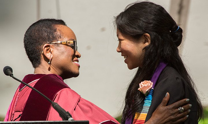 Valerie Smith and Iris Chan '17