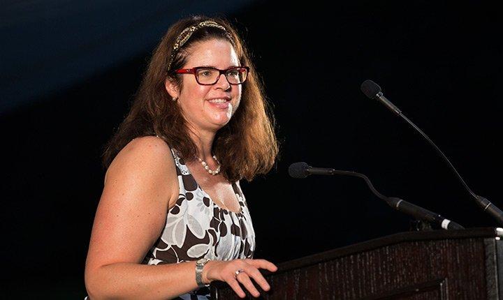 Dean Liz Braun speaks