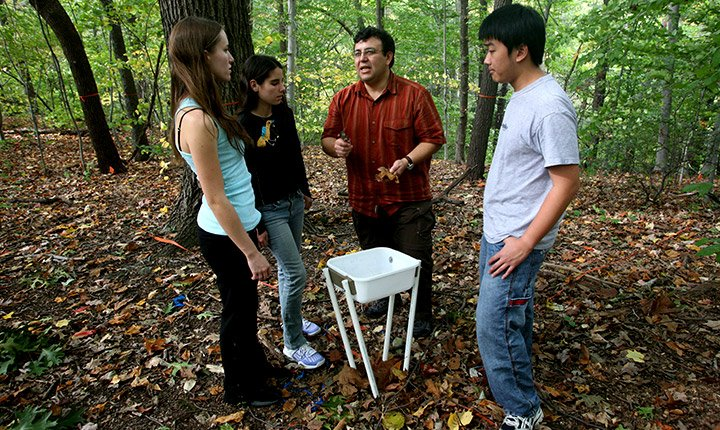 student research in crum woods