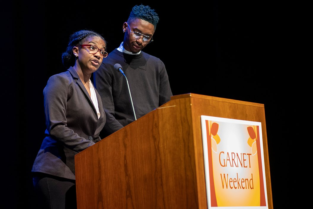 Students introduce Mary Schmidt Campbell '69