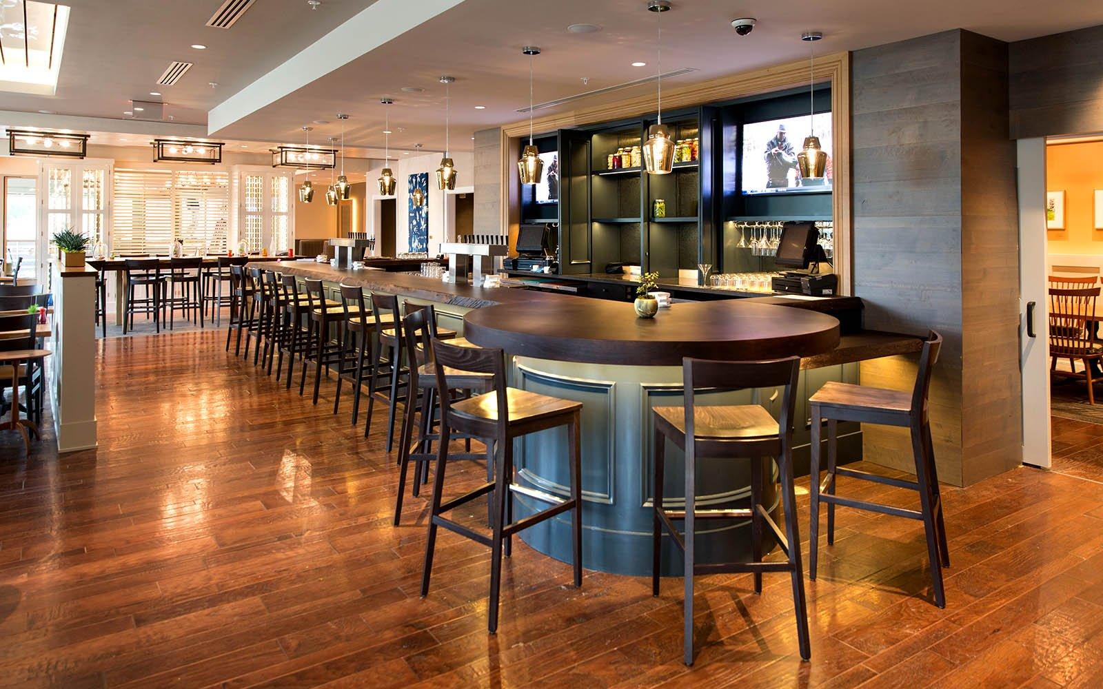Interior shot of the bar at the Broad Table Tavern