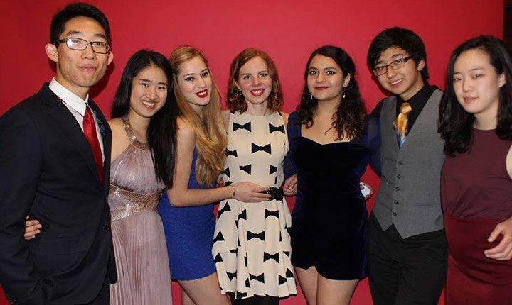 Students at the formal