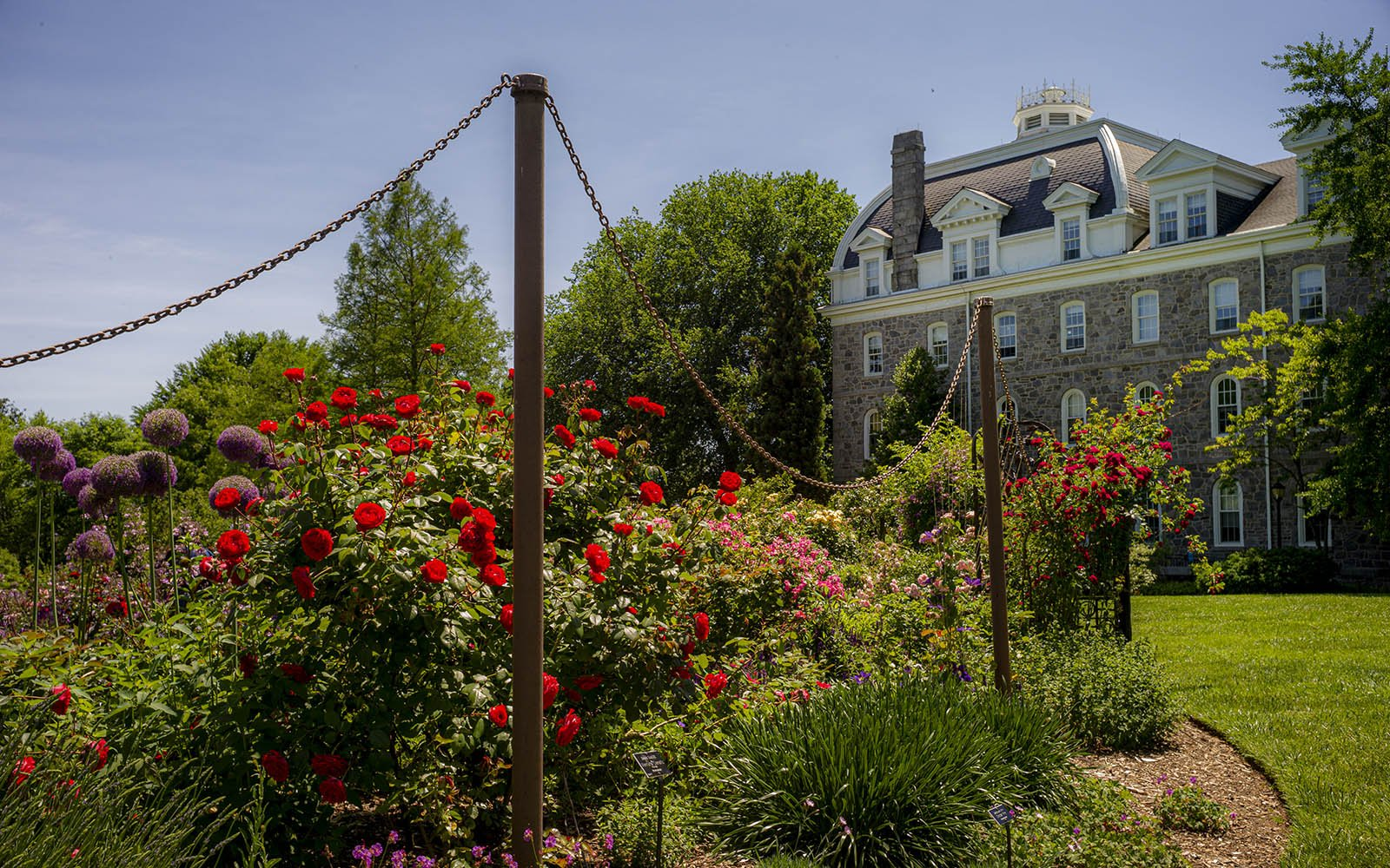 rose garden and parrish hall