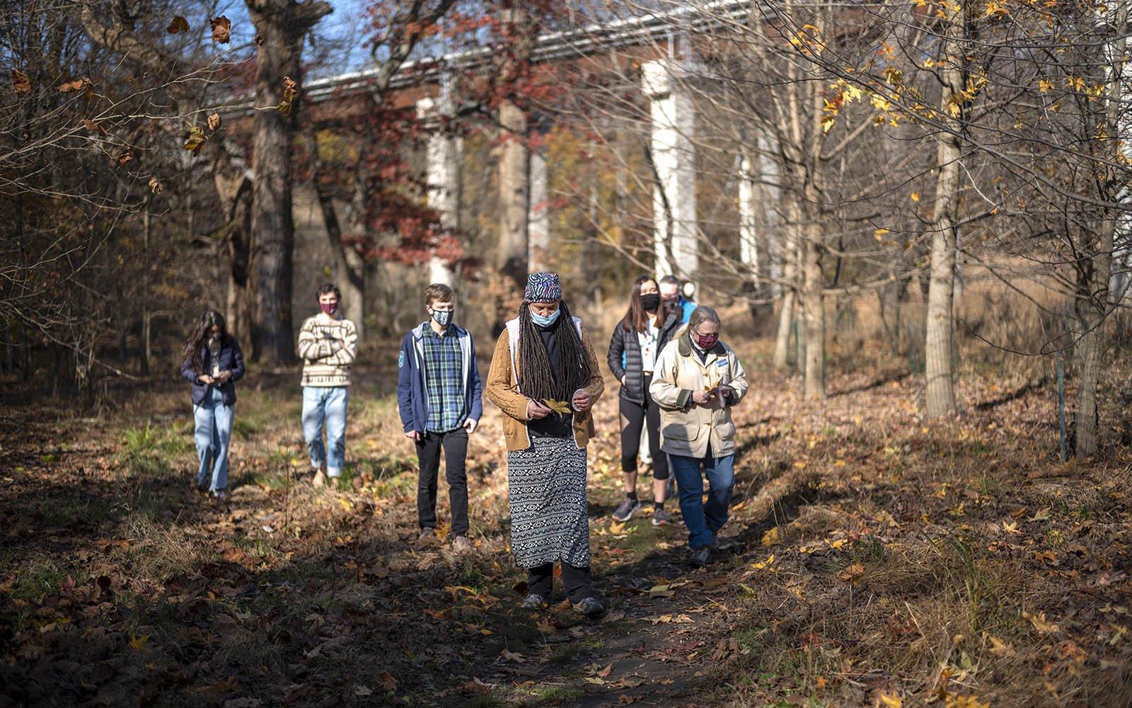 walking in crum woods