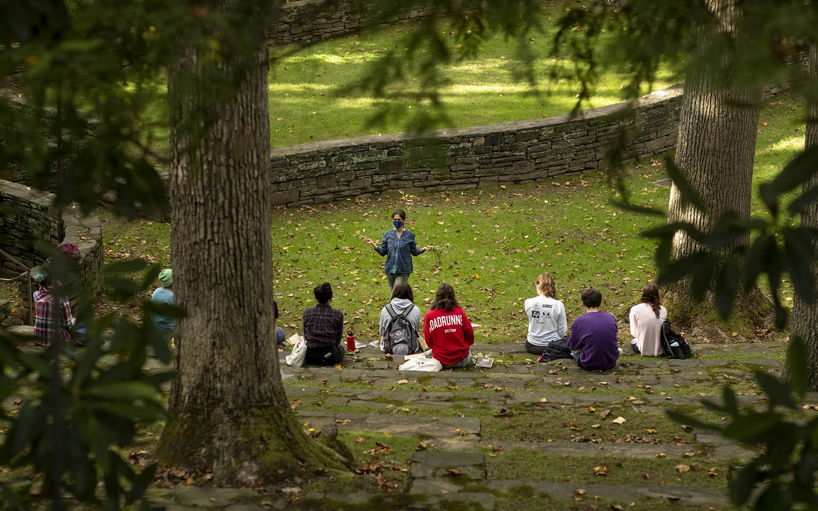 class in the amphitheater