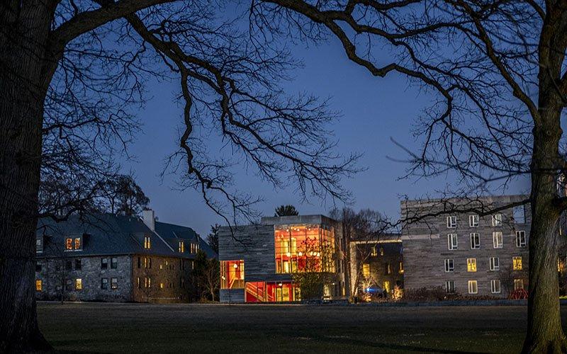 kemp hall at night
