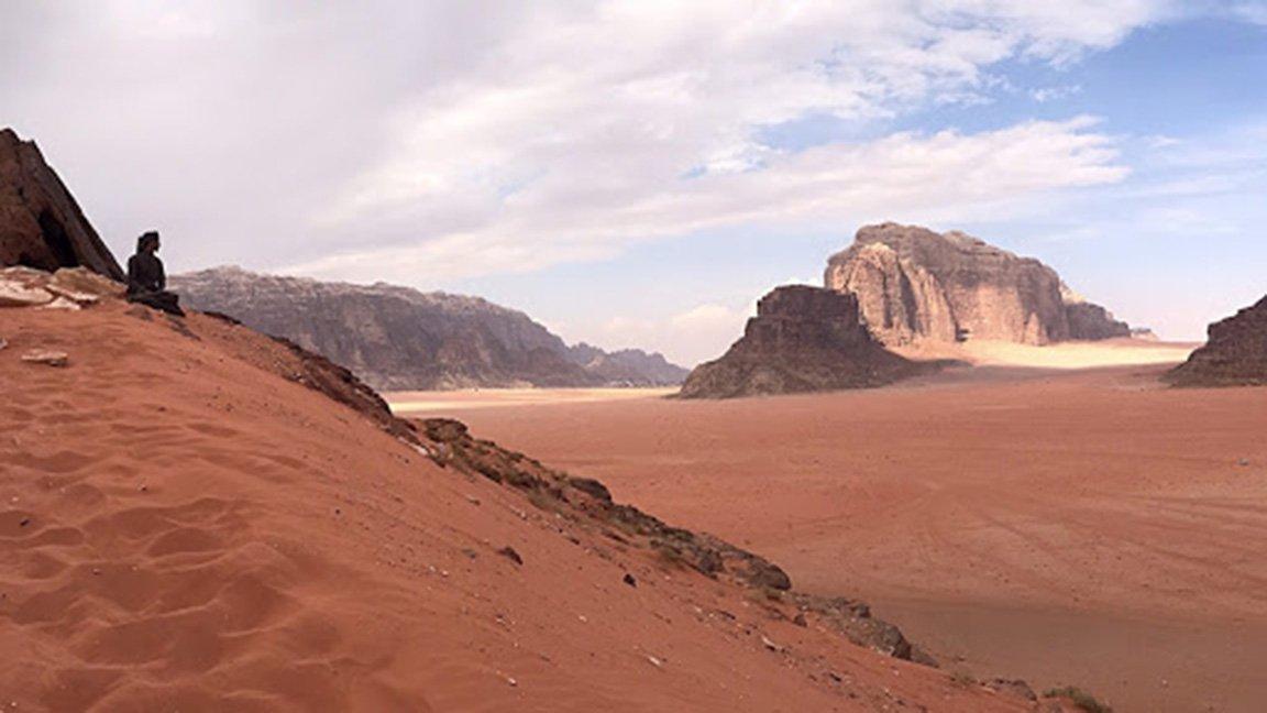 hilly, sandy landscape