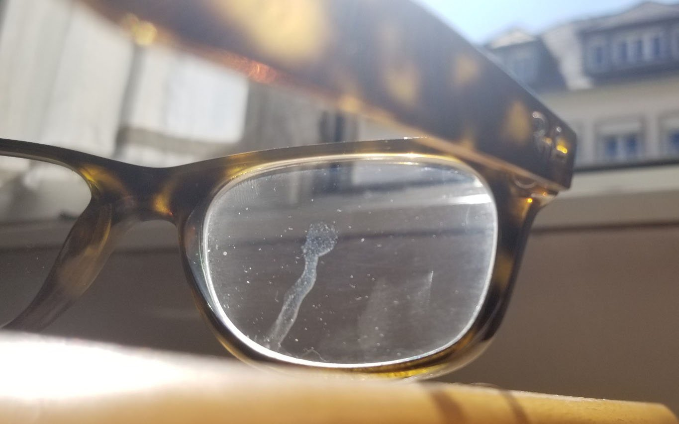 close up of glasses