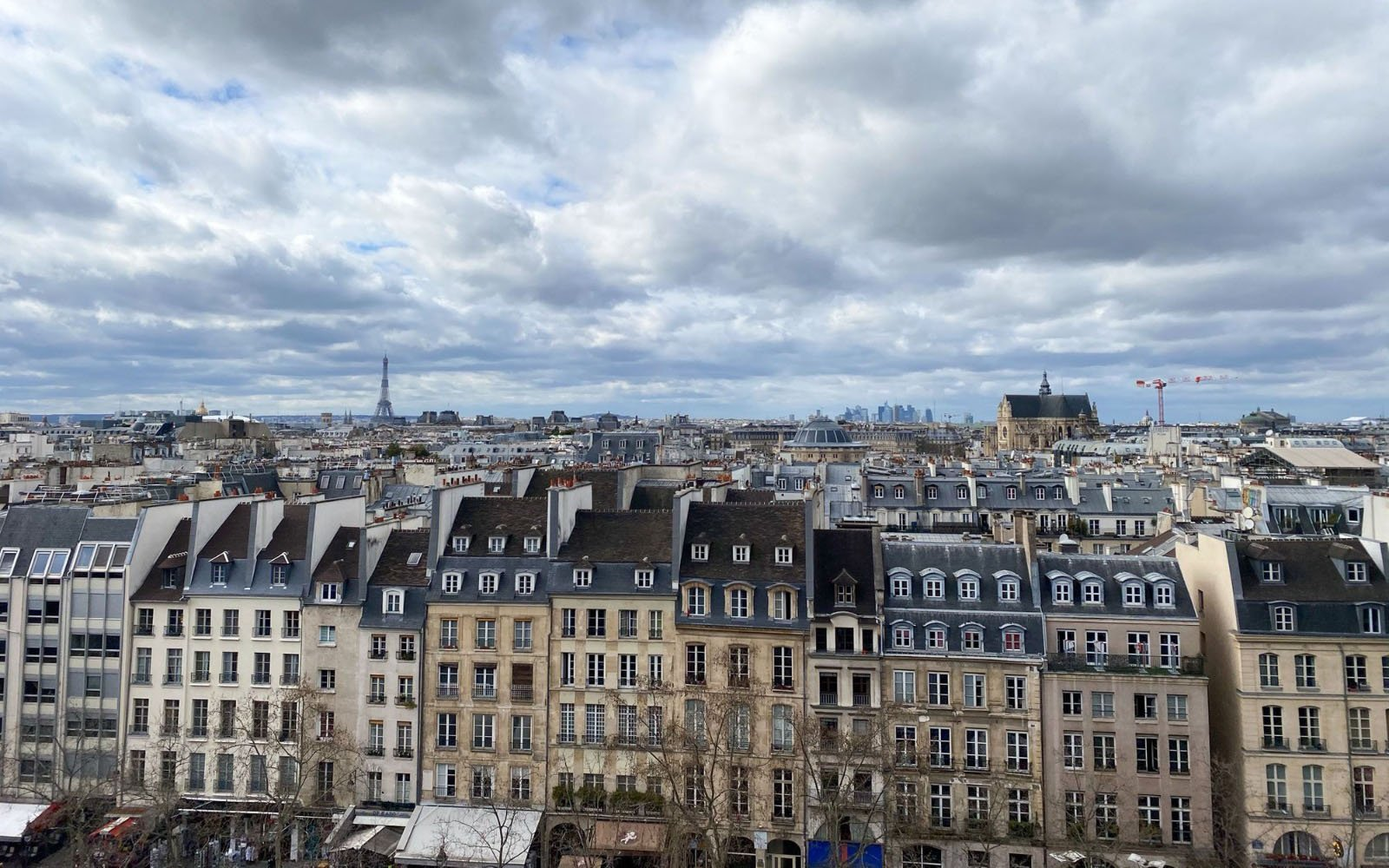 rooftop view of Paris