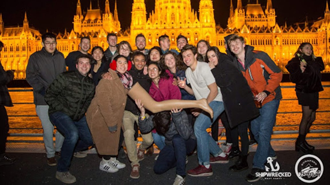 student group photo in Budapest