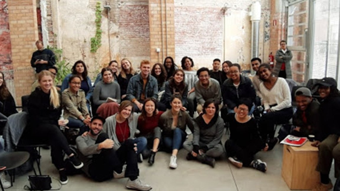 Group photo in Spain