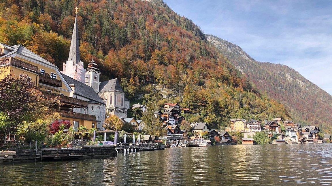 Austrian village near the water