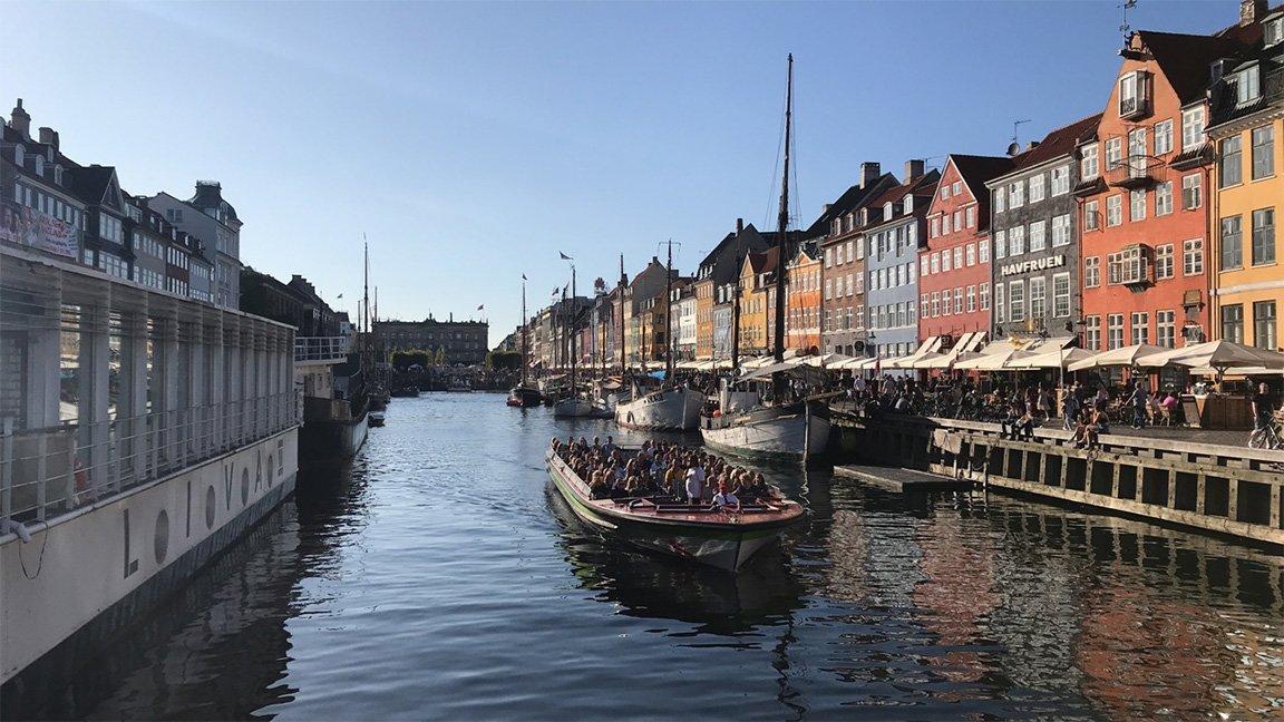 river and buildings in Copenhagen