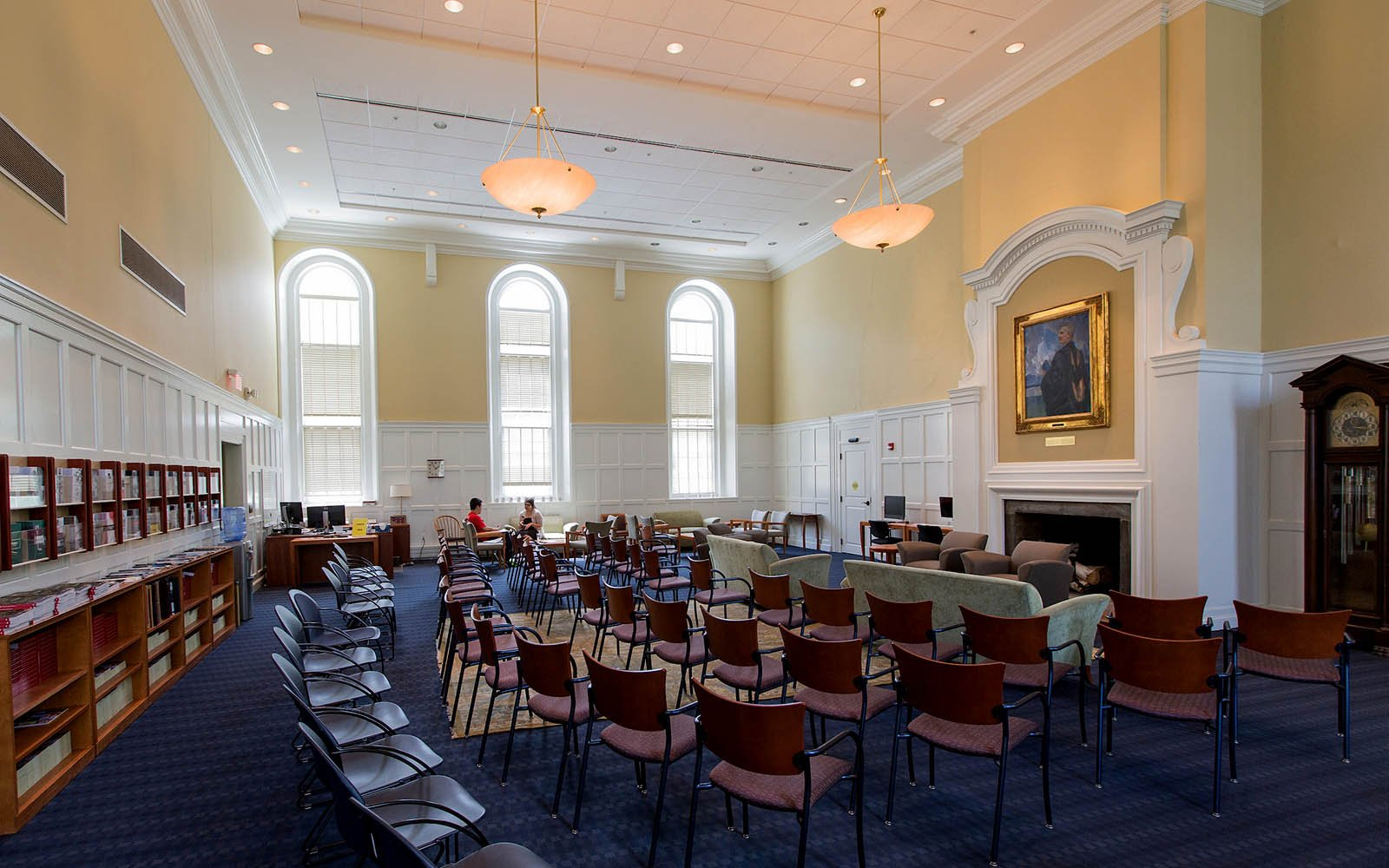 Large room with chairs used by Admissions