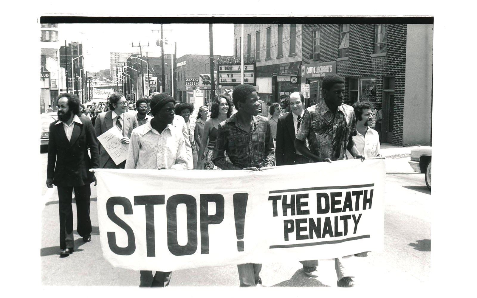 photo of anti death penalty march