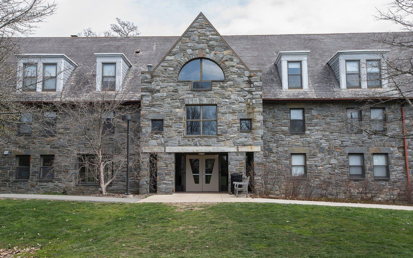 Exterior shot of Mertz Hall