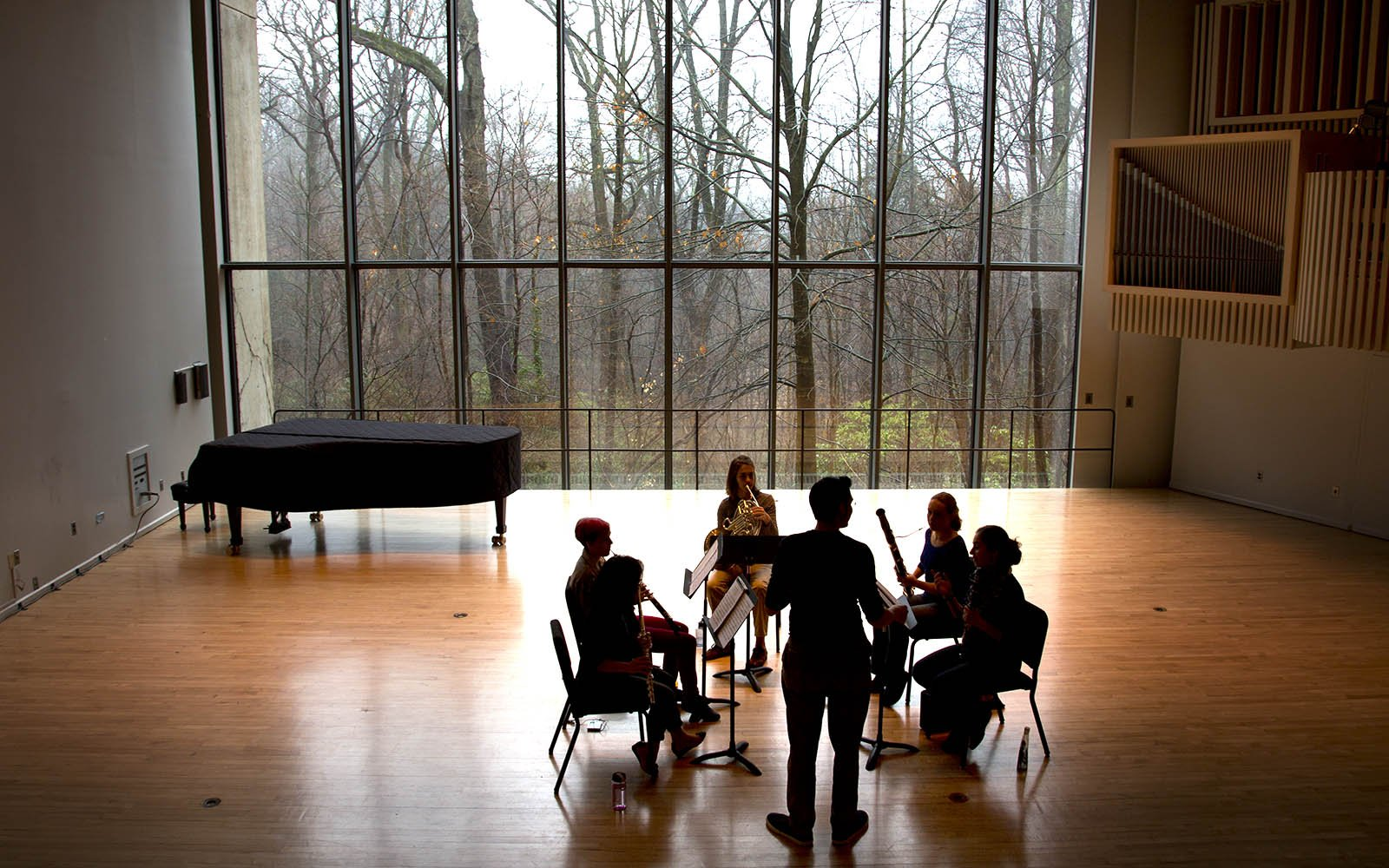 music practice in lang music building