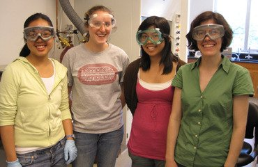 Lab group, Summer 2010 - Elissa Wong'12, Hannah Rose'12 and Judy Diep'13.