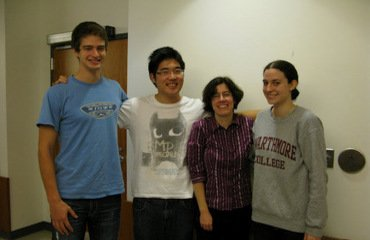 Holliday Group 2011 - Travis Mattingly'13, Daniel Pak'12, and Kathleen Naccarato'14