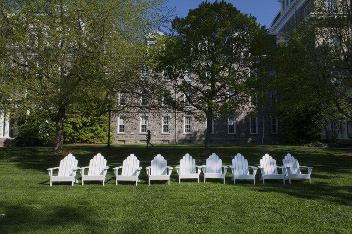 Adirondack Chairs on Parrish Beach