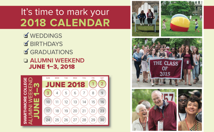 Save the Date Postcard Image for Alumni Weekend 2018