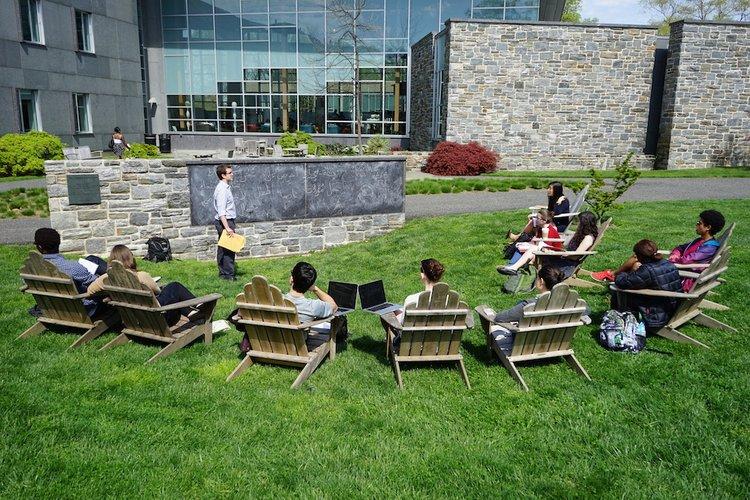 Ben Smith teaching outside