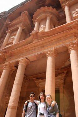 Lindsay Dolan & Henry Linder in Jordan, Photographs of students abroad