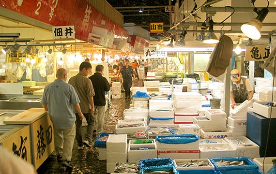 East asian fish market
