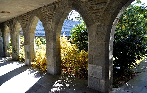 Swarthmore College Walkway - Clothier Memorial Hall