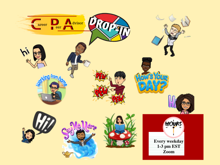 CPA Zoom Drop-in hours: M-F, 1-3pm