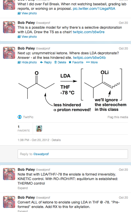 Chem 32 Prof Uses Twitter