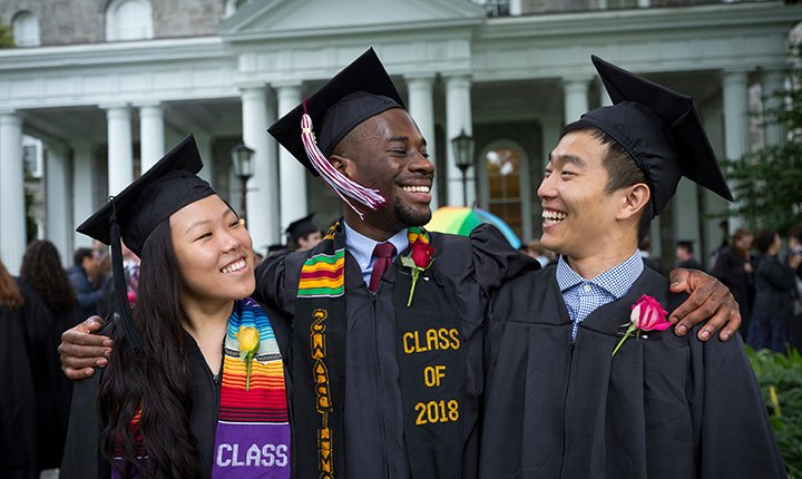 Students celebrate at Commencement 2018