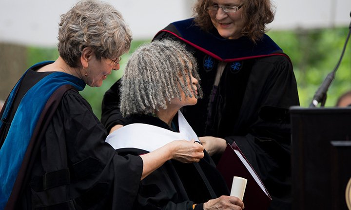 Sonia Sanchez receiving honorary degree