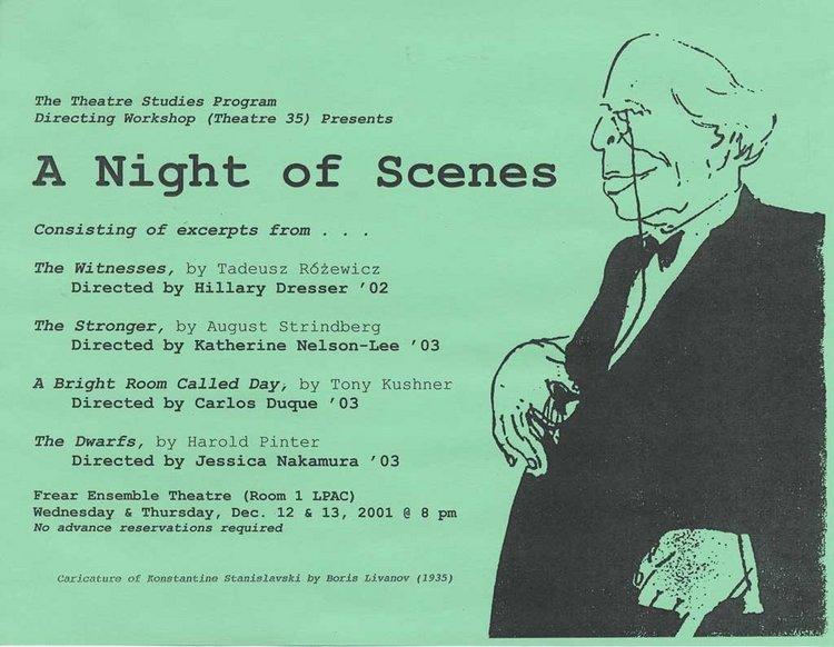 Directing I: Night of Scenes '01