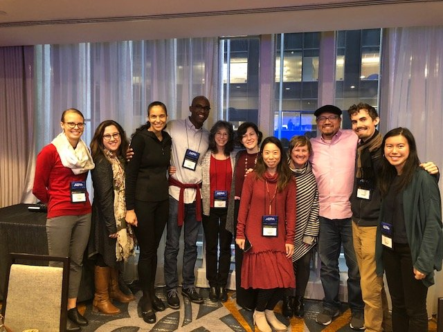 Faculty and presenters at the AERA conference Spriing 2018