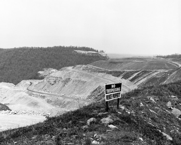 Mountaintop Removal Site, Coal Strip Mining, West Virginia. Photo by Blaine O'Neill 2010.