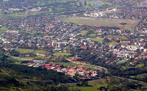 UCT as seen from Table Mountain