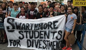 Students at a Divestment protest