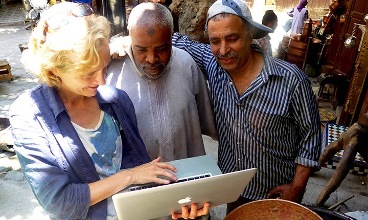 English professor and Fulbright scholar Betsy Bolton shares digital stories with some of her collaborators