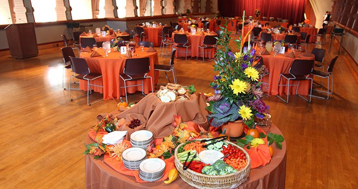 catering table in upper tarble