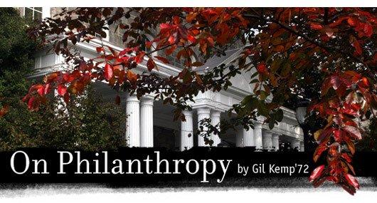 On Philanthropy by Gil Kemp '72