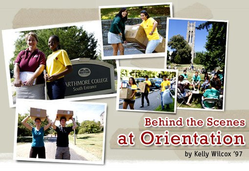 Behind the Scenes at Orientation by Kelly Wilcox '97