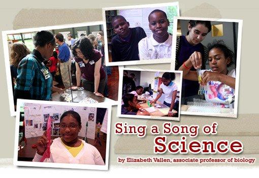 Sing a Song of Science by Elizabeth Vallen, associate professor of biology