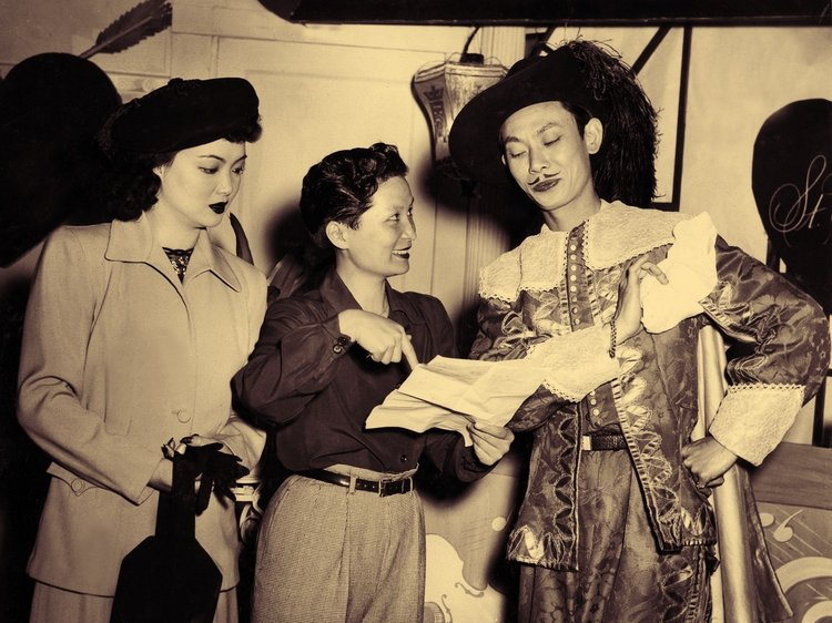 Marianne Quon, Esther Eng, Teng Pui; San Francisco 1947